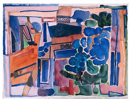 Edvard frank paros blaue bl ten 1 kunst der moderne for Kunst der moderne